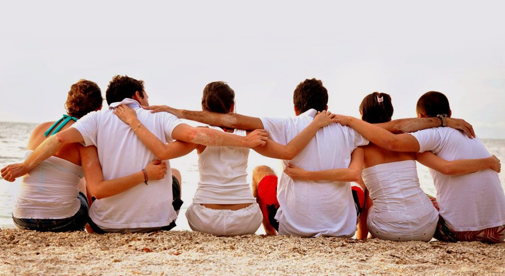 The relationships we have and how we interact with others. Being socially engaged, having a strong social network