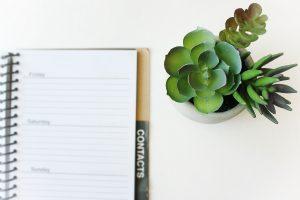 a blank diary