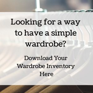 Simply Shine download your wardrobe inventory