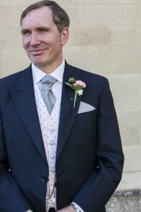 handsome man on his wedding day