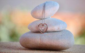 three stones denoting harmony